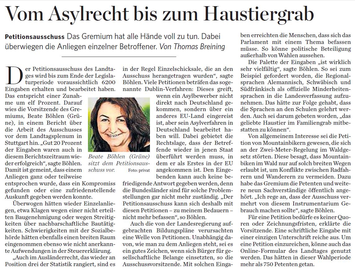 Stuttgarter Zeitung am Montag, den 21. Dezember 2015